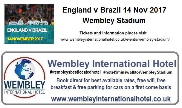 England v Brazil Wembley Stadium