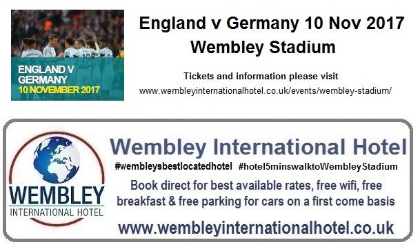 England v Germany Wembley 10 Nov