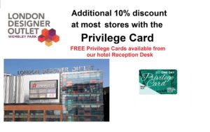LDO Privilege Card for Wembley International Hotel guests