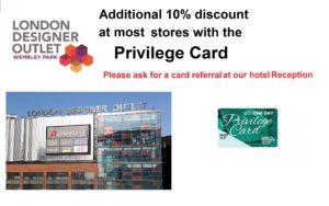 LDO Privilege Card for Wembley International Hotel guests