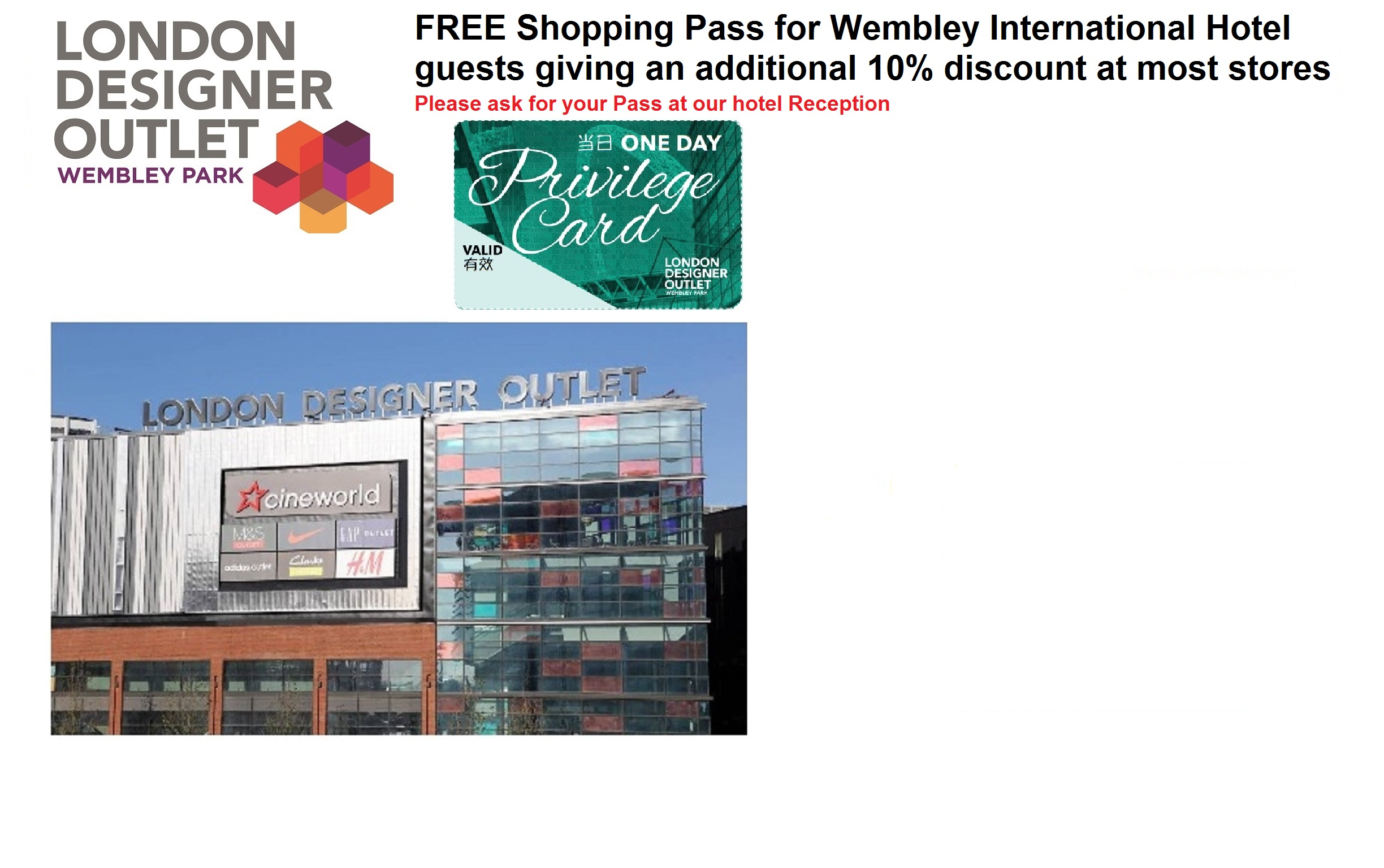 Free Wembley Shopping Pass
