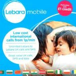 Wembley International Hotel Free Lebara SIM Card with £1 credit loaded
