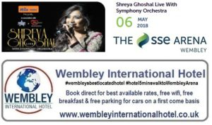 Shreya Goshal at The SSE Arena, Wembley 2018