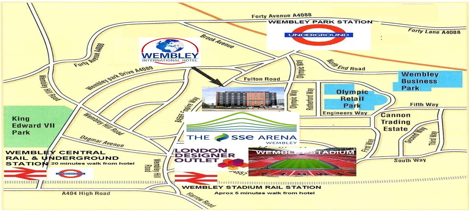 Wembley Park to central London 15 minutes by tube