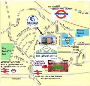 Wembley location map