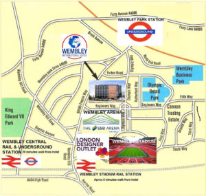 Hotel walking distance to Wembley Arena
