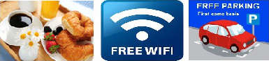 Free Continental Breakfast, Free WiFi, Free Parking