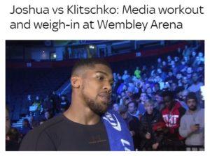 Klitschco v Joshua