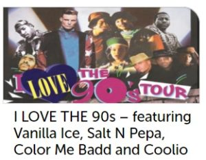 I Love the 90's Tour Wembley 2017