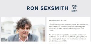Ron Sexsmith London 2017