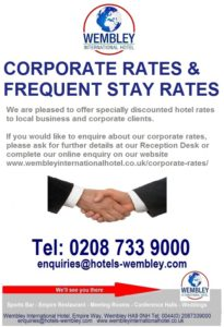Wembley hotel corporate rates