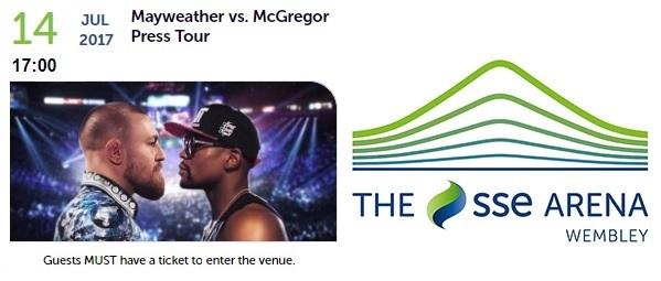 McGregor V Mayweather Press Tour reaches Wembley
