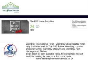 The Kiss House Party Live Wembley