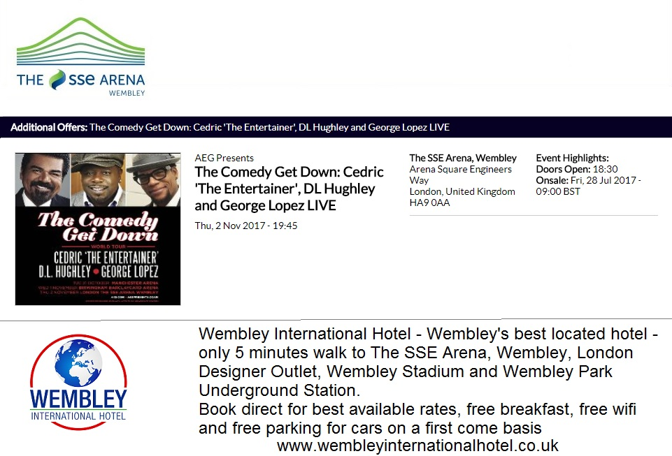 Cedric The Entertainer Wembley