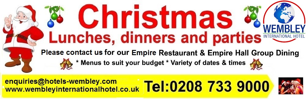 Wembley Christmas meals and parties