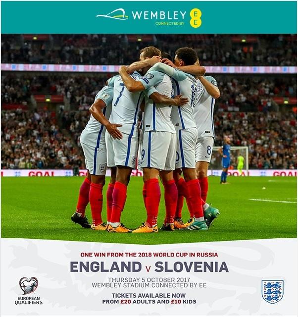 England v Slovenia Wembley Stadium