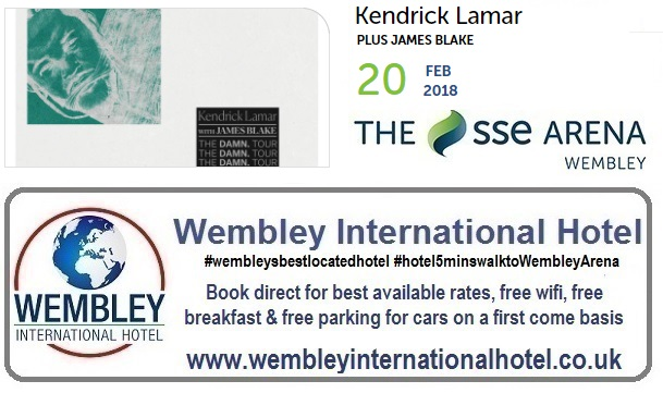 Kendrick Lamar and James Blake Wembley 2018