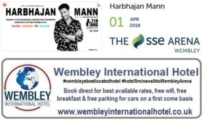 Harbhajan Mann at The SSE Arena Wembley
