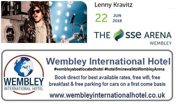 Lenny Kravitz Wembley 2018