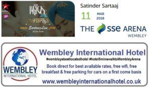Satinger Saartaj The SSE Arena, Wembley