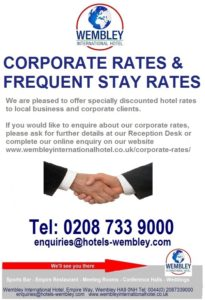 Corporate Rates at Wembley International Hotel