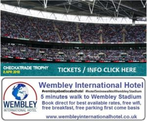 Checkatrade Trophy Wembley Stadium 2018