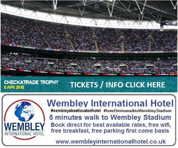 Checkatrade Trophy Wembley Stadium 2018