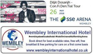 Diljit Dosanjh at The SSE Arena Wembley