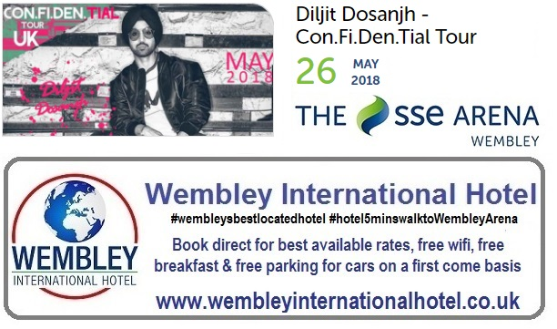 Diljit Dosanjh at The SSE Arena Wembley