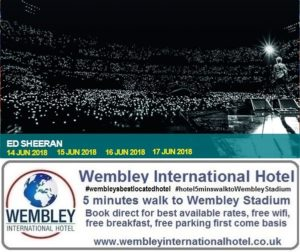 Ed Sheeran at Wembley Stadium June 2018