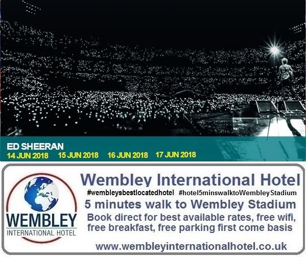 Ed Sheeran at Wembley Stadium June 2018