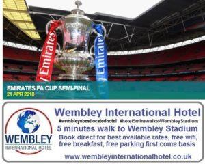 Emirates FA Cup Semi Final Wembley Stadium 21 April 2018