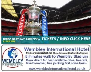 Emirates FA Cup Semi Final 21 April 18 Wembley Stadium