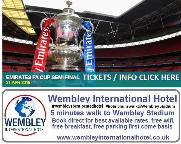 Emirates FA Cup Semi Final 21 April 18 Wembley Stadium