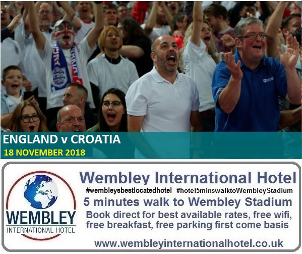 England v Croatia Wembley Nov 2018