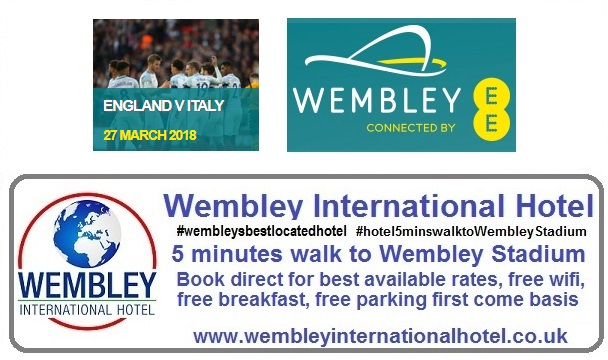 England v Italy Wembley Stadium 2018