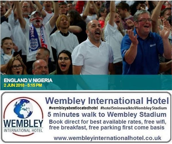 England v Nigeria Wembley 2018