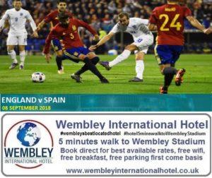 England v Spain 2018