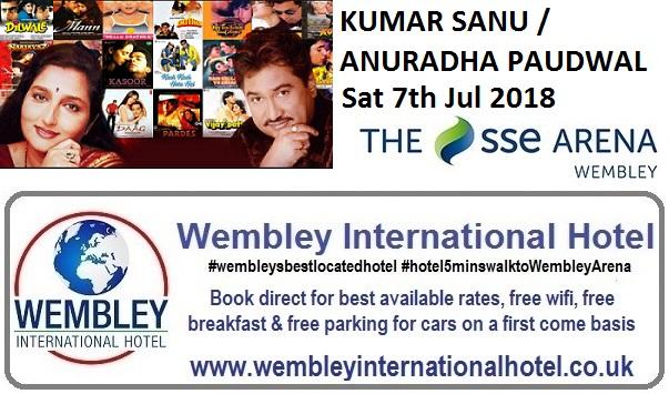 Kumar Sanu - Anuradha Paudwal Wembley 2018