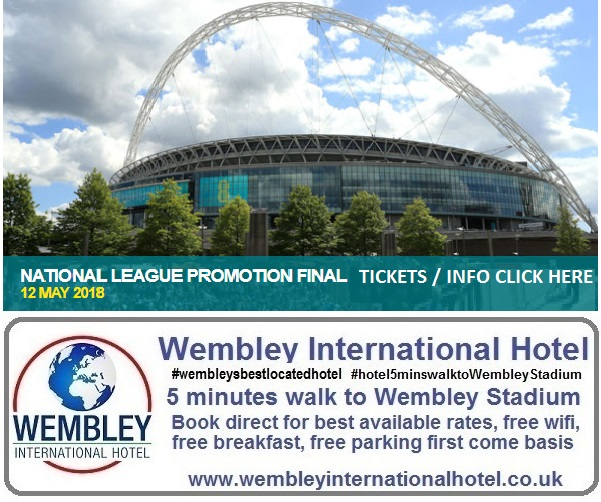 National League Play Off Final Wembley 2018