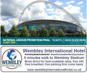 National League Play Off Final Wembley Stadium 2018