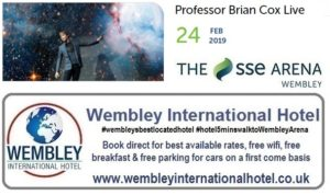 Prof Brian Cox at The SSE Arena, Wembley Feb 2019
