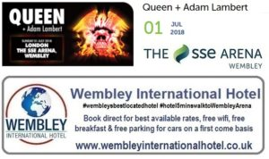 Queen and Adam Lambert at The SSE Arena, Wembley 2018