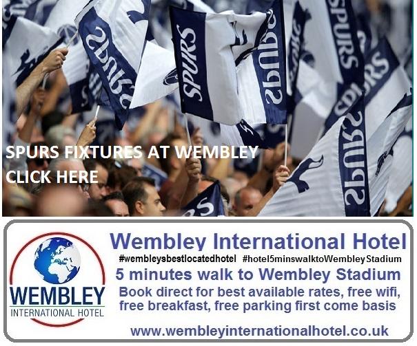 Spurs fixtures at Wembley Stadium