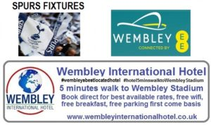 Spurs a Wembley fixture list