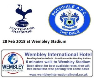 Spurs v Rochdale Wembley Stadium