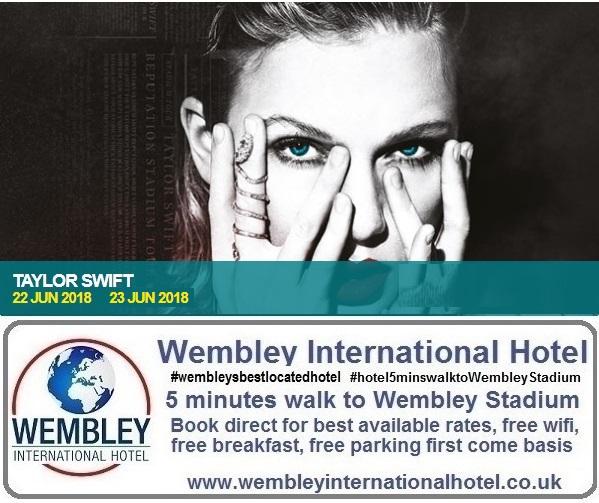 Taylor Swift Wembley Stadium 2018
