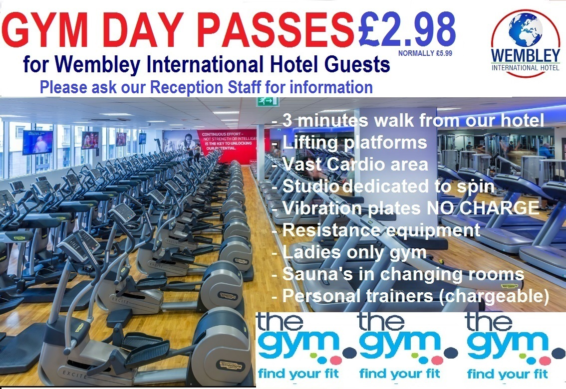 Wembley Park Gym 50% discount for Wembley International Hotel guests
