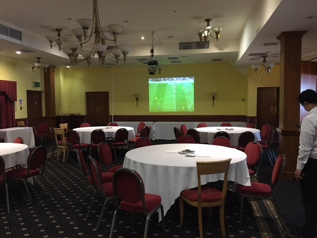 Wembley International Hotel watch live football on large screen