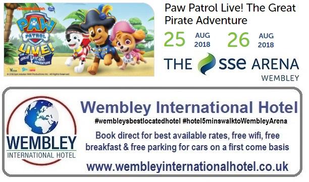 Paw Patrol Wembley 2018